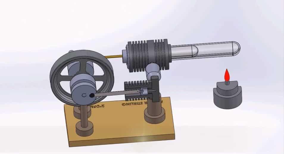 Funcionamiento del motor Stirling