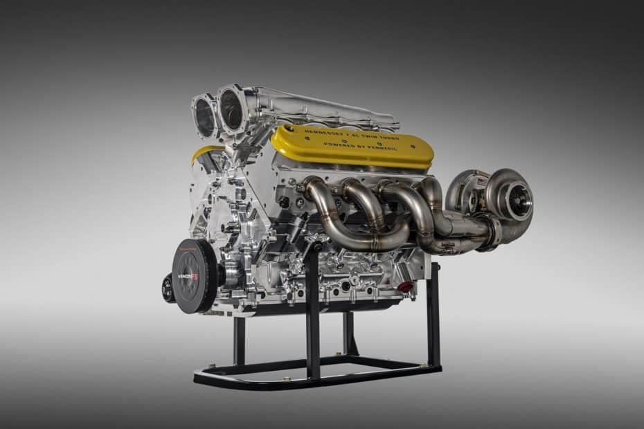 Así es el motor de 1.622 CV del Hennessey Venom F5
