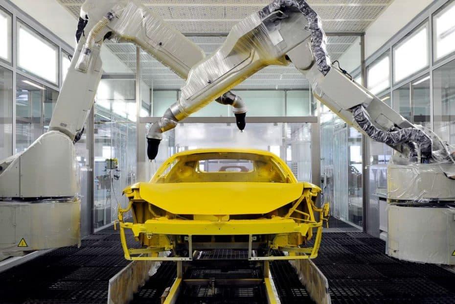 El nuevo proceso de pintado de Ferrari es único en el mundo y su resultado es sensacional