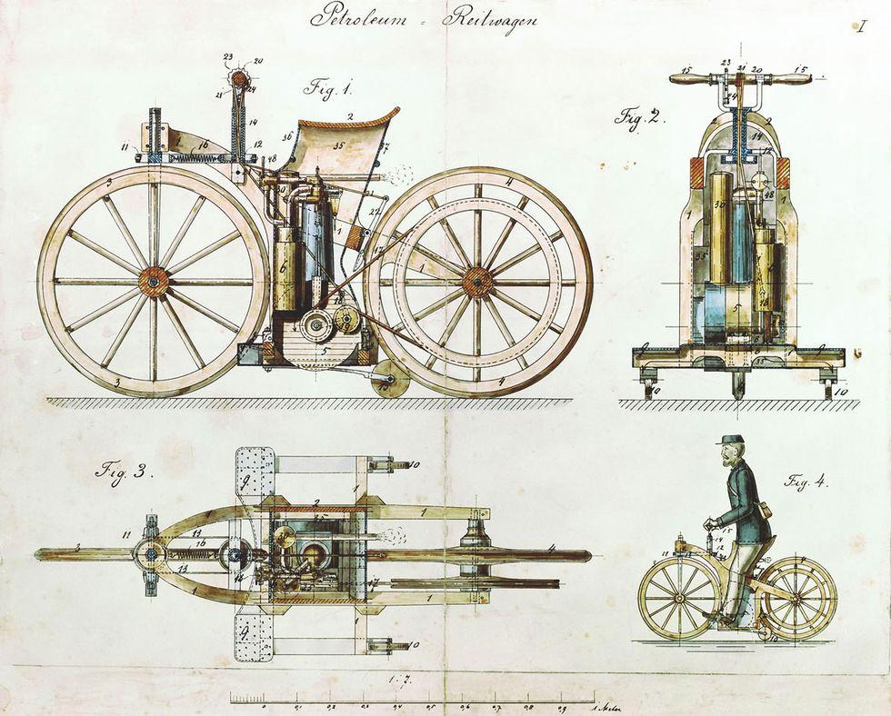 Mercedes inventó la primera moto