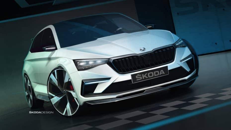 El Škoda Vision RS va tomando forma: Será un híbrido-enchufable muy atractivo con 245 CV
