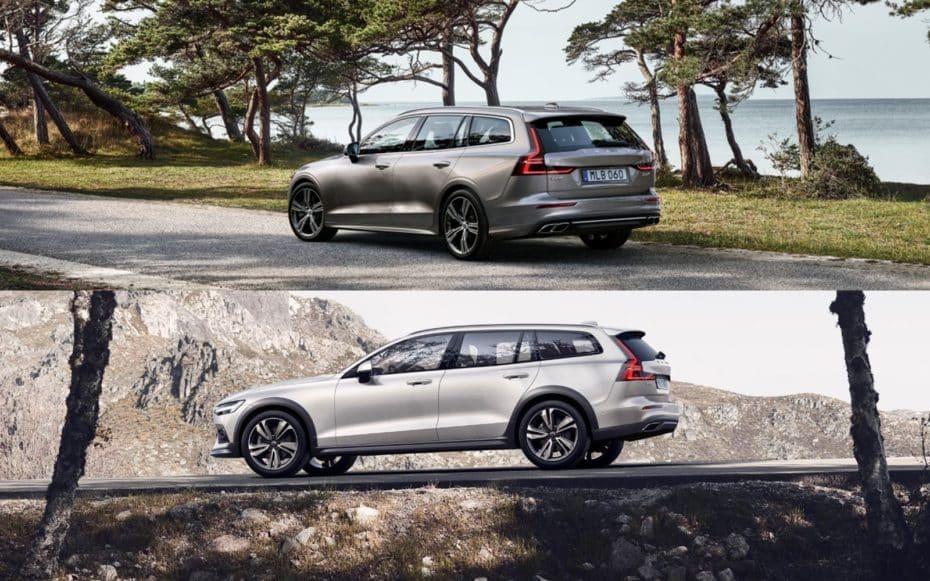 Comparativa visual Volvo V60 y V60 Cross Country: ¿Eres más de asfalto o de campo?