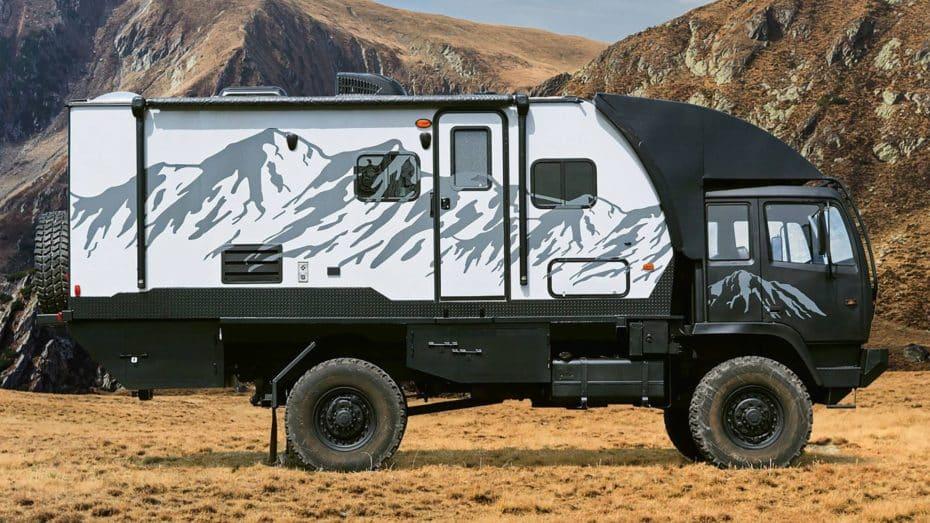 El Hunter RMV Predator 6.6 es un vehículo militar transformado en una casa sobre ruedas