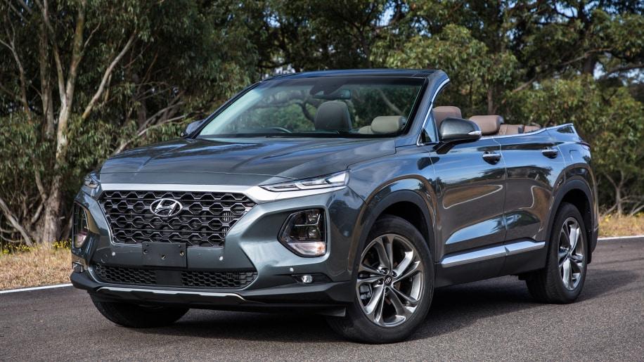 ¿Un Hyundai Santa Fe descapotable? Este one-off tan singular es para toda la familia