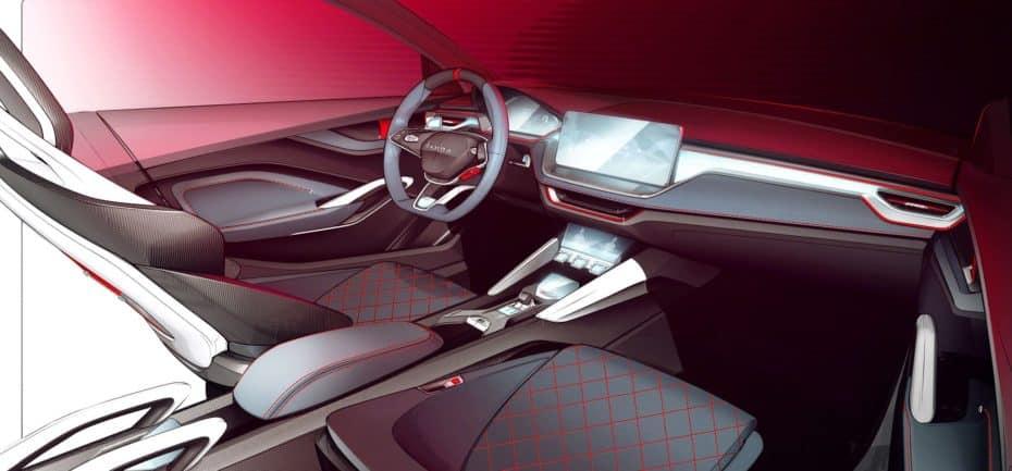 Skoda nos muestra el interior del Vision RS que debutará en el Salón de París