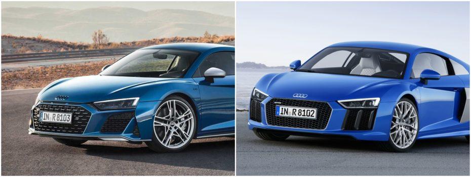 Comparación visual: Juzga tú mismo cuánto ha cambiado el Audi R8 2019