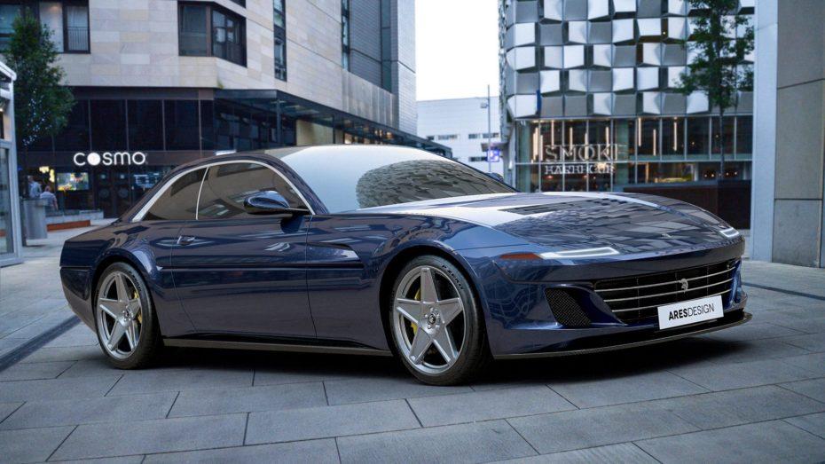 """Este """"Ferrari 412"""" no viene del futuro, es el último proyecto de Ares Design sobre la base del GTC4Lusso"""
