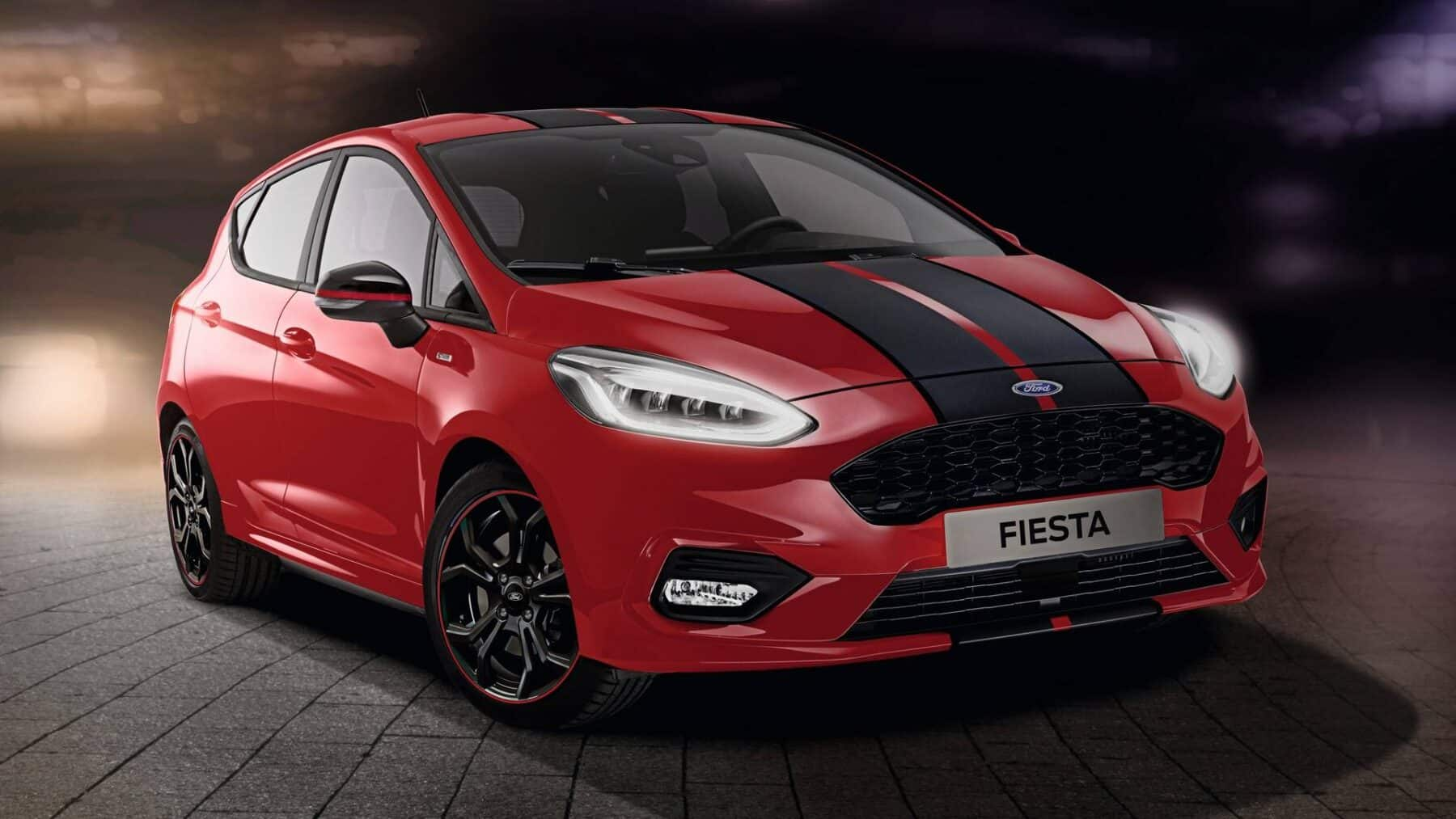 ford fiesta red edition y black edition 2018 sin mejoras mec nicas. Black Bedroom Furniture Sets. Home Design Ideas