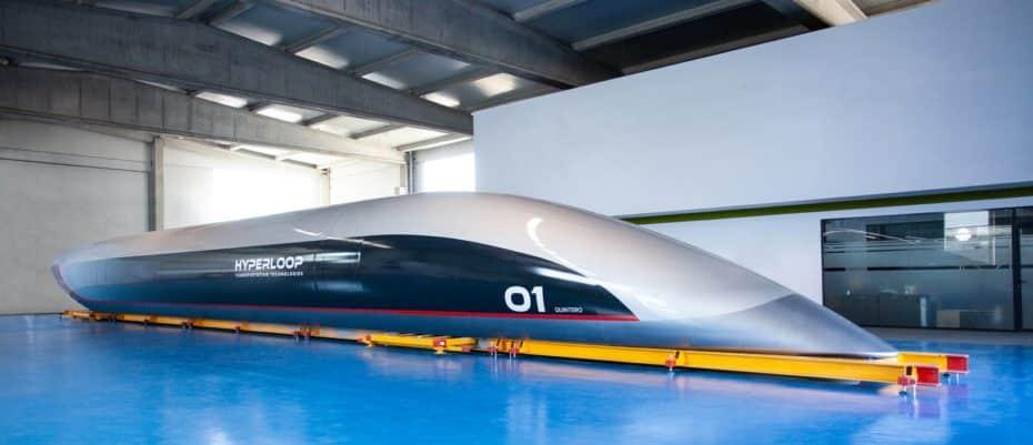 La primera cápsula de pasajeros de Hyperloop Transportation Technologies es española y ya es una realidad