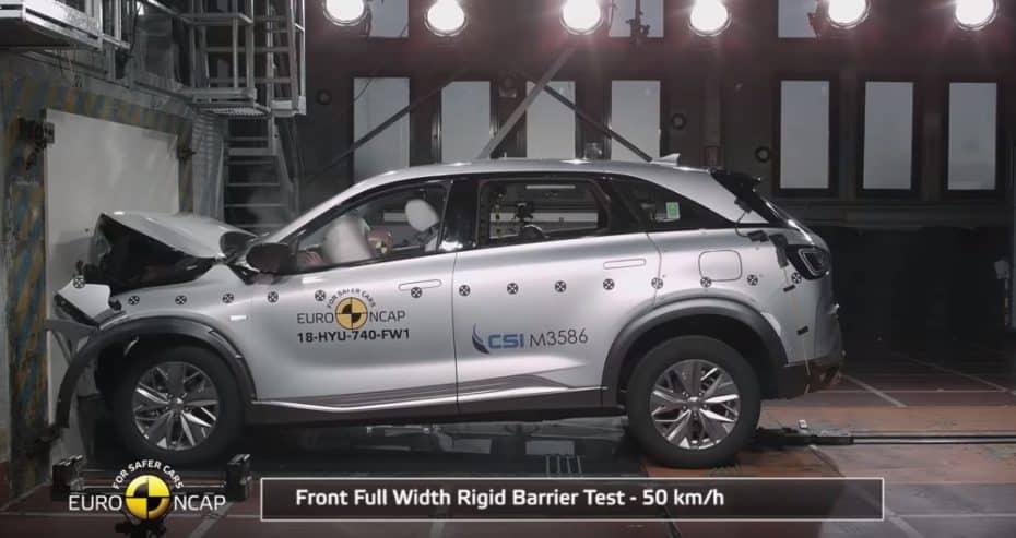 Nueva tanda de pruebas de choque: Euro NCAP confirma que la pila de hidrógeno es segura