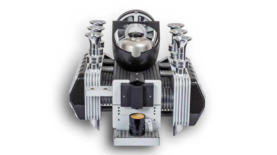 Si te gusta tanto el café como el Porsche 993, tu regalo de Reyes ideal es esta «cafetera de seis cilindros»