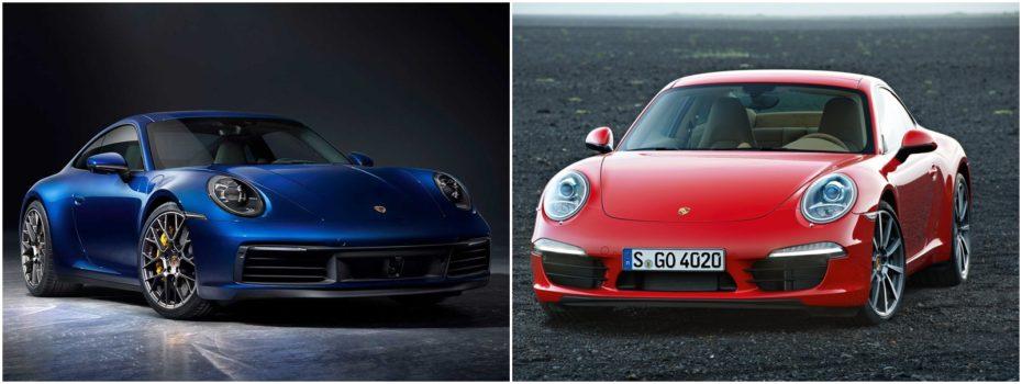 Comparación visual: Juzga tú mismo cuánto ha cambiado el Porsche 911 2019