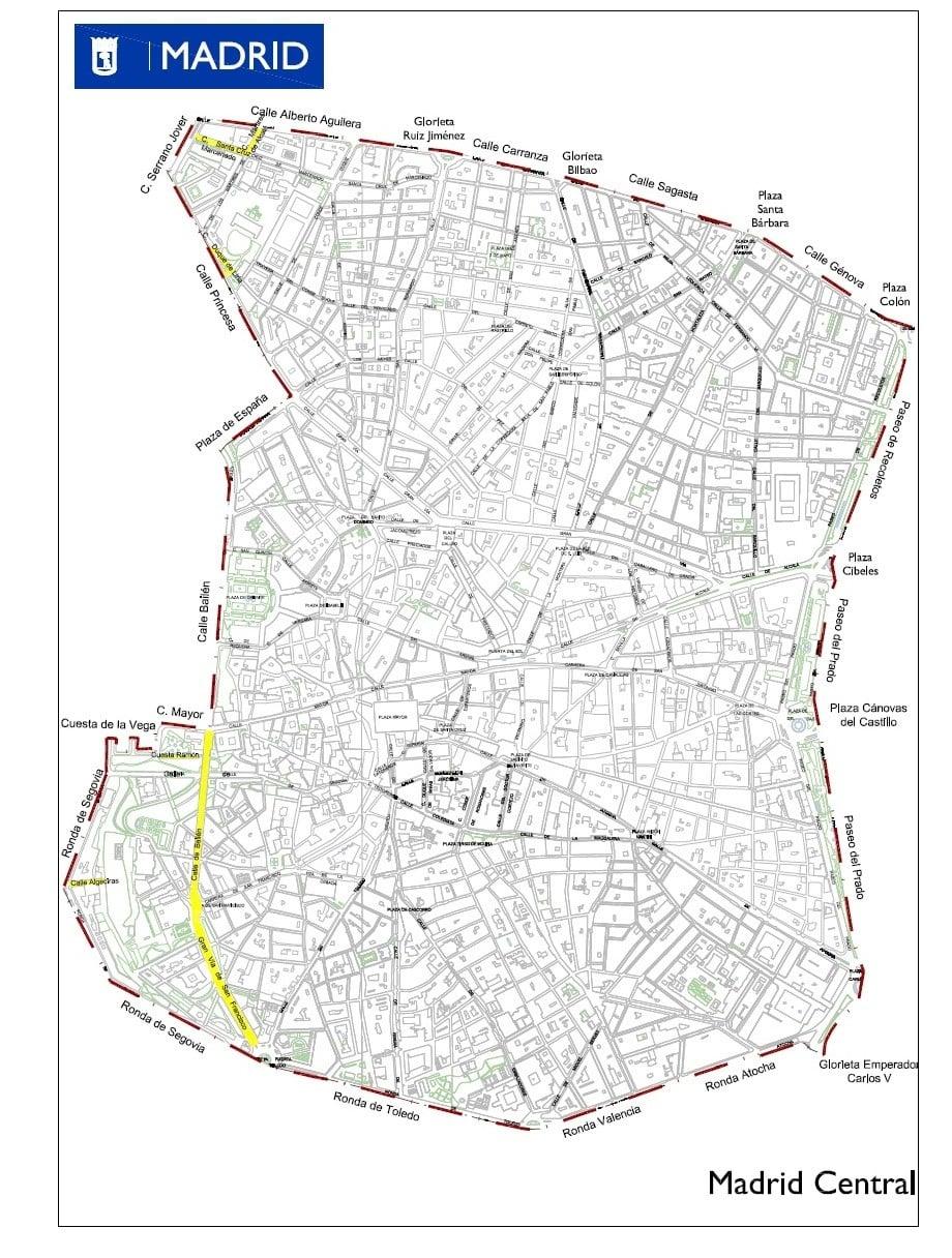 Madrid Central mantiene su perímetro inicial