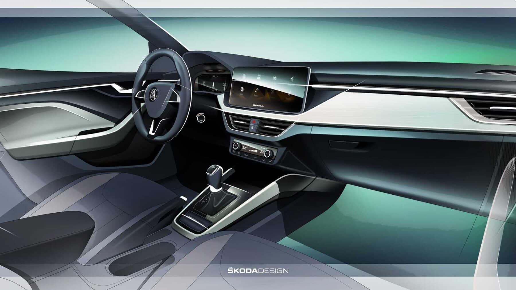 El Škoda Scala 2019 nos muestra su interior: Tecnológico y ...