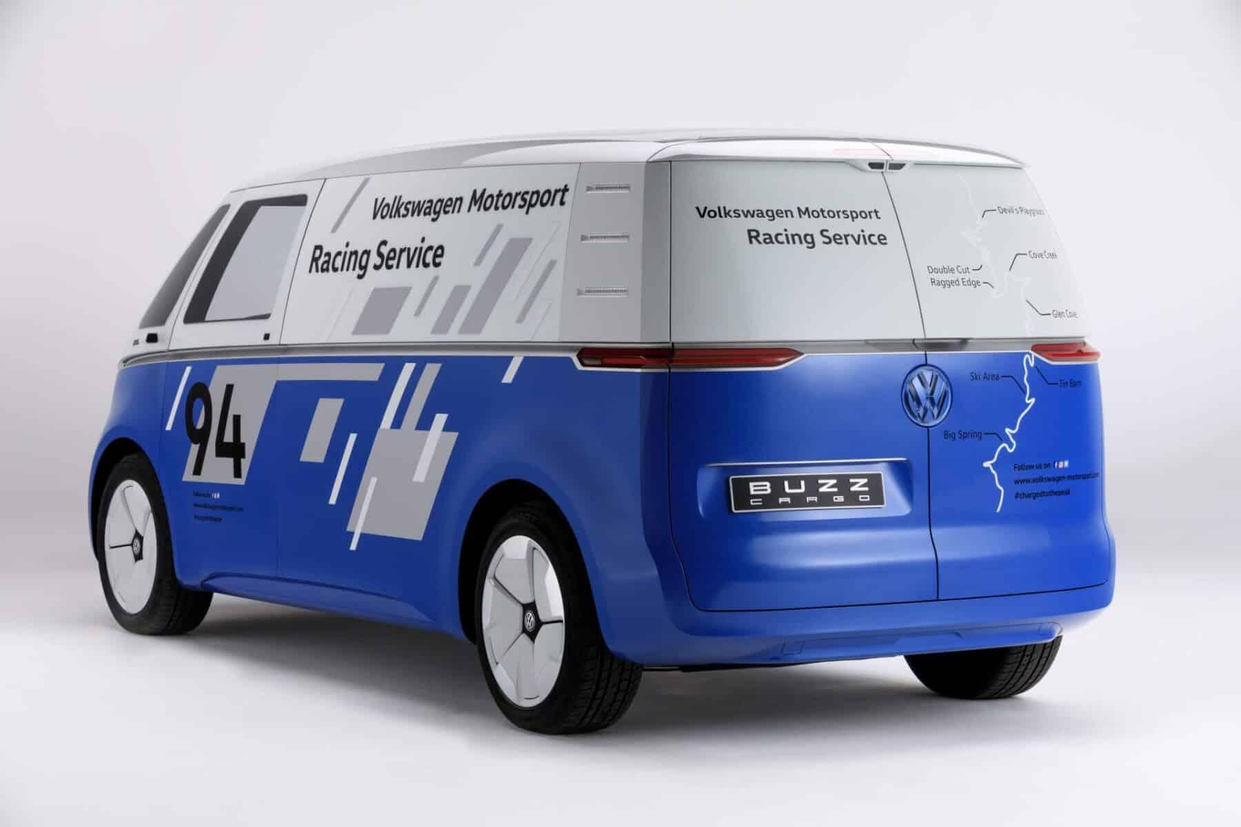 volkswagen id buzz cargo concept una furgo electrica  autonoma