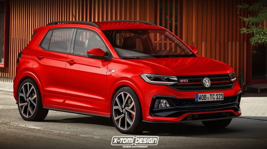 ¿Un Volkswagen T-Cross GTI?: No está en los planes oficiales pero así quedaría el modelo…