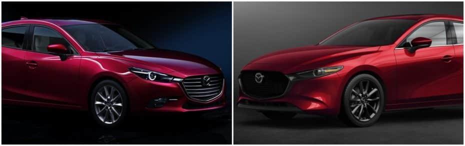 Comparación visual Mazda3 2019: Juzga tú mismo cuánto ha cambiado el compacto nipón