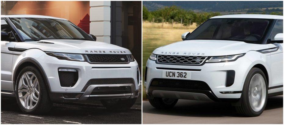 Comparación visual Range Rover Evoque: Juzga tú mismo cuánto ha cambiado el exitoso SUV