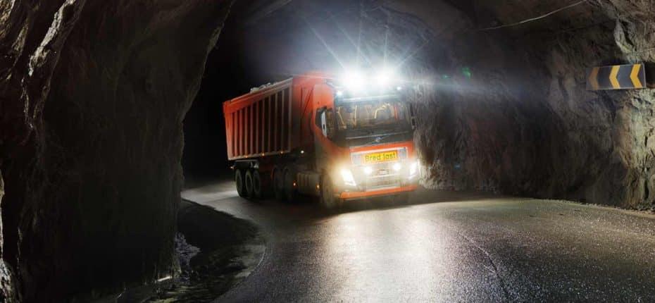 El camión autónomo de Volvo Trucks ultima sus pruebas en una mina de Noruega