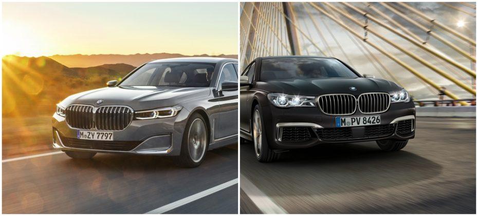 Comparación visual: Juzga tú mismo cuánto ha cambiado el BMW Serie 7 2019