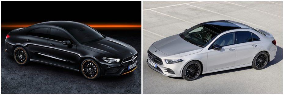 Comparación visual Mercedes-Benz CLA vs. Mercedes-Benz Clase A Sedán 2019 ¿Aprecias las diferencias?