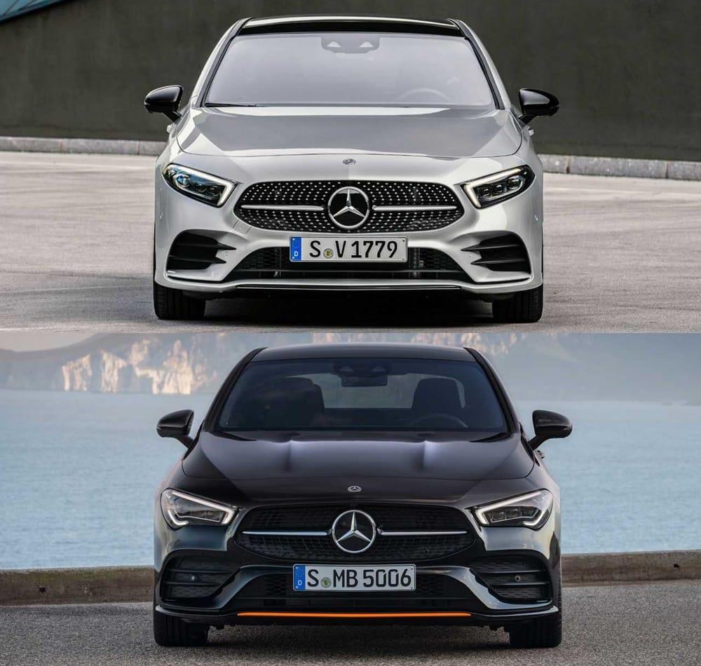 Comparativa Visual Mercedes-Benz CLA Vs. Clase A Sedán 2019