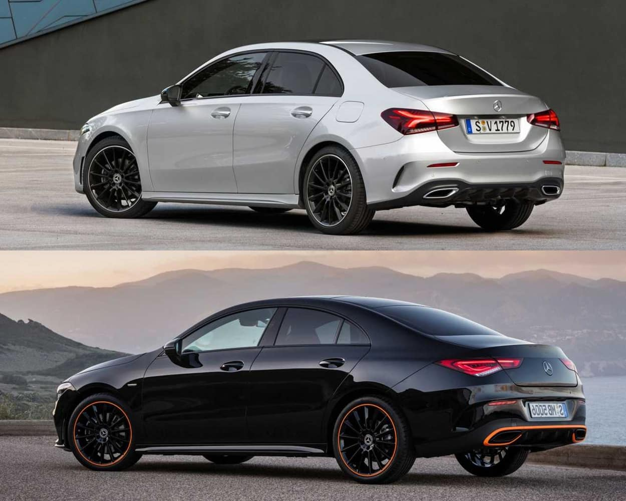 Mercedes Benz Cla >> Comparativa visual Mercedes-Benz CLA vs. Clase A Sedán 2019
