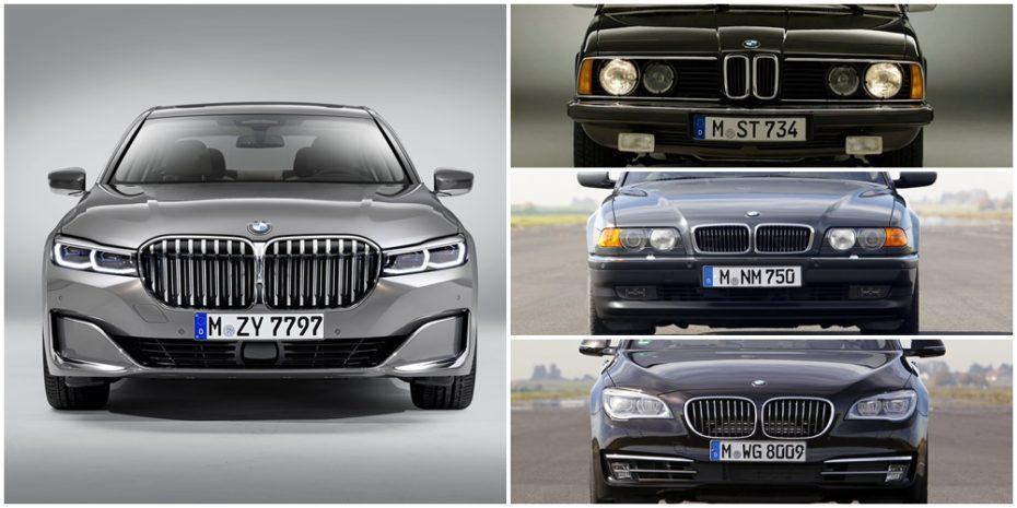 Comparación visual: Así han evolucionado los «riñones» del BMW Serie 7 en más de 40 años
