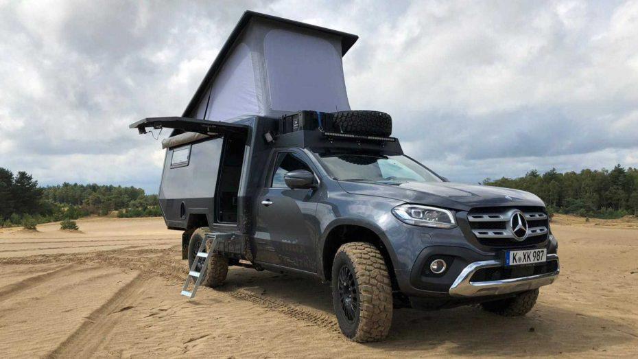 El Mercedes Clase X de Matzker tiene todo lo que necesitas para una escapada de aventura