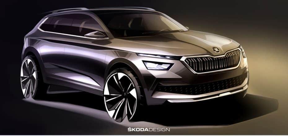 ¡Oficial!: Primeros bocetos del Skoda Kamiq, competidor directo de SEAT Arona y Volkswagen T-Cross