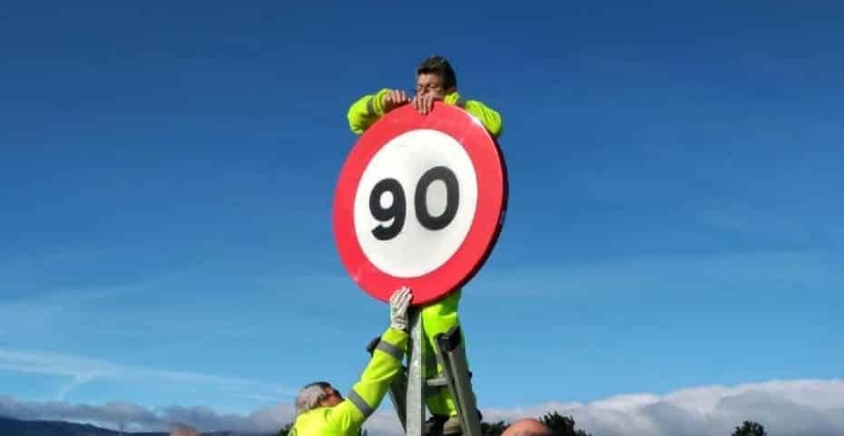 Esto es lo que nos cuesta cambiar las 2.719 señales por el nuevo límite de velocidad…