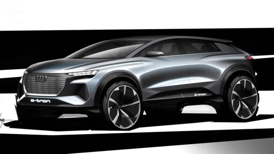 El Audi Q4 e-tronconcept estará en Ginebra y nos adelanta un SUV de corte deportivo totalmente eléctrico