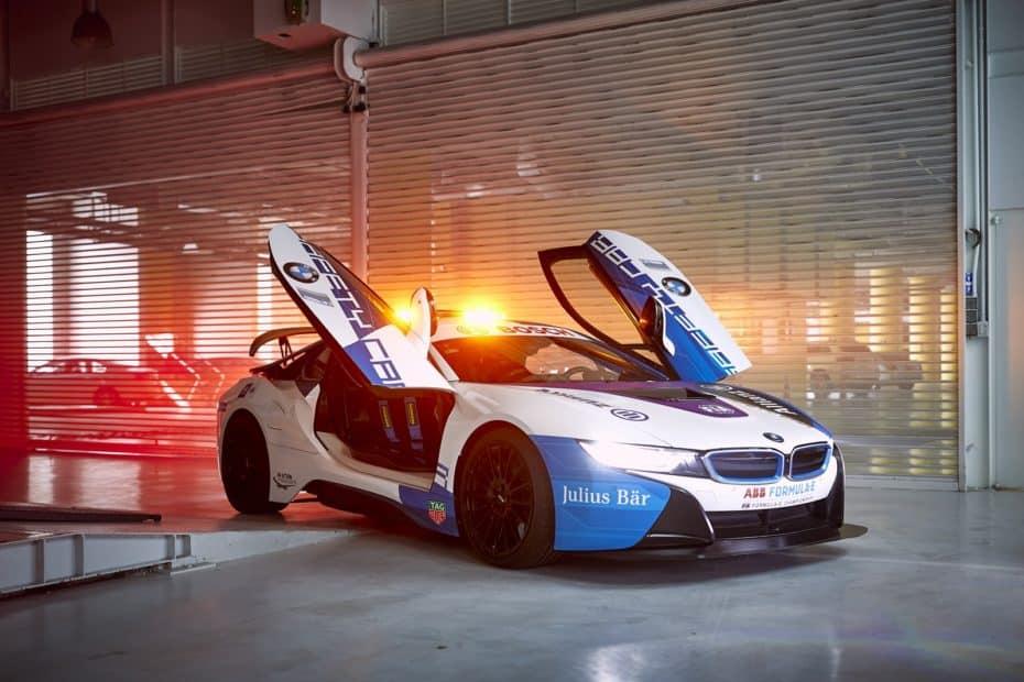 Así es el BMW i8 Safety Car de la Formula E: Muchos componentes M