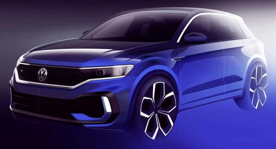 El primer teaser del Volkswagen T-ROC R nos revela un inminente debut en Ginebra: A por los 300 CV