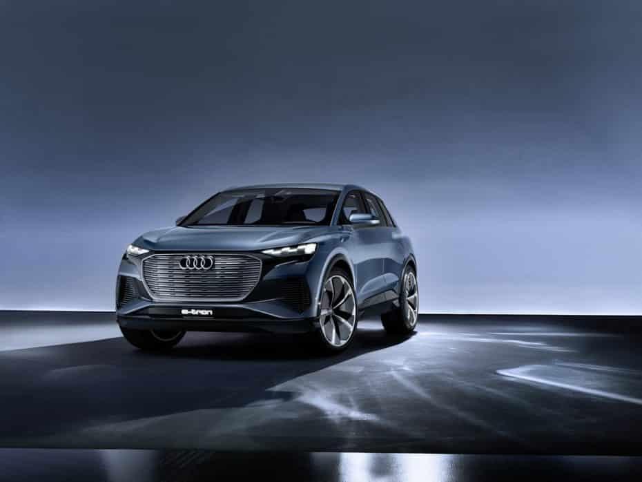 Audi Q4 e-tron concept: El quinto Audi 100% eléctrico tendrá más de 500 kg de baterías