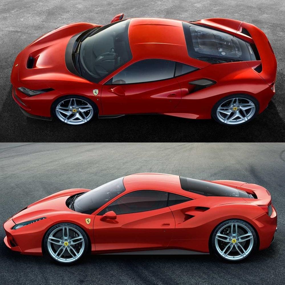 Immagini F8 Tributo Ferrari: Comparativa Visual: Ferrari F8 Tributo Vs. Ferrari 488 GTB