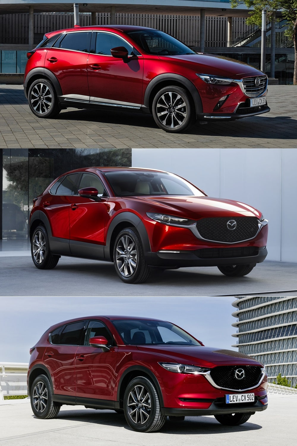 comparativa visual mazda cx