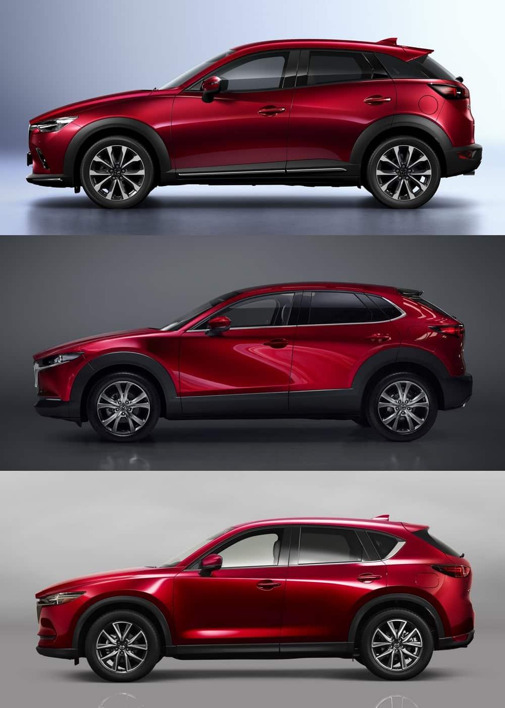 Mazda Cx 3 >> Comparativa visual Mazda CX-3 vs. CX-30 vs. CX-5