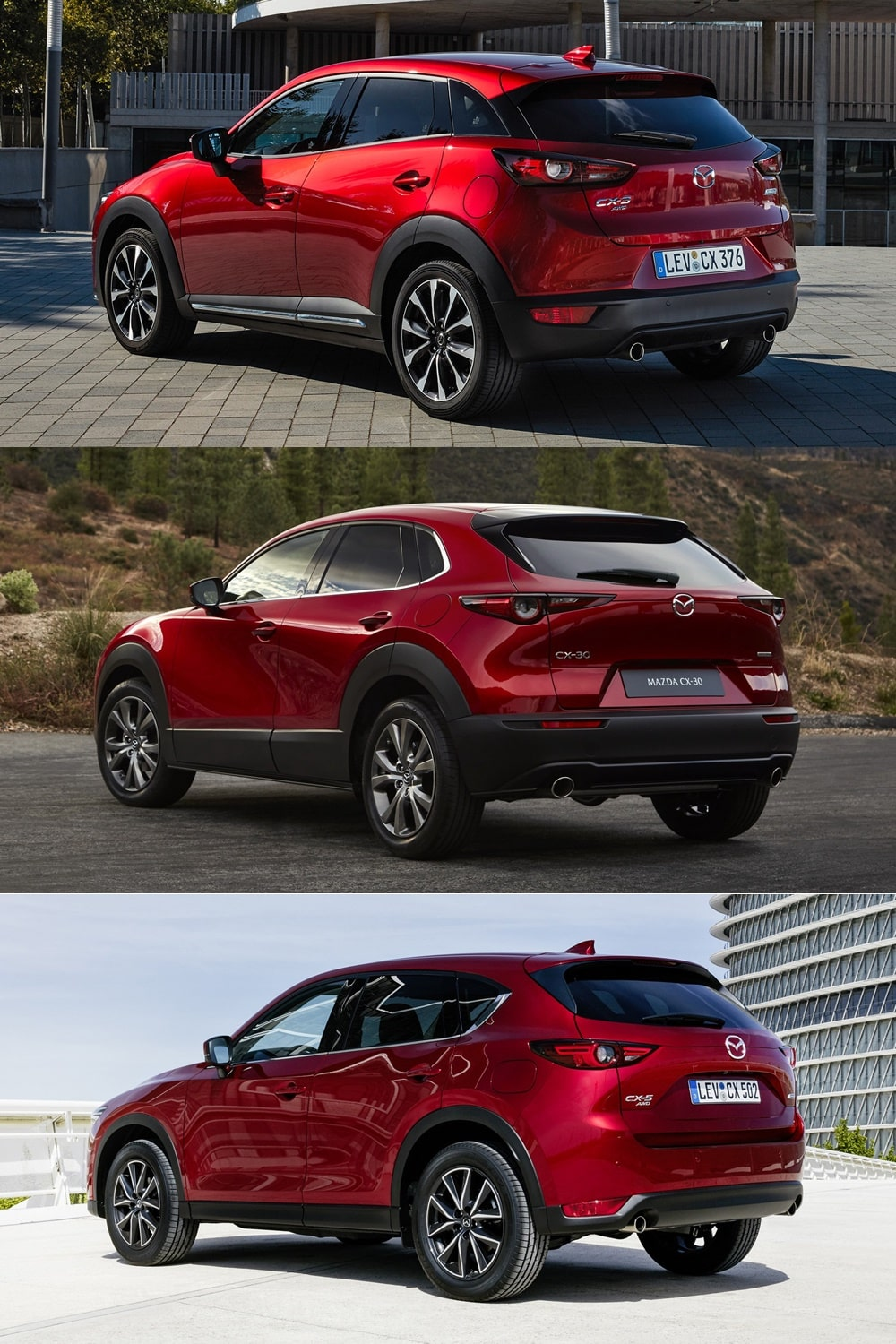Mazda Cx 3 >> Comparativa visual Mazda CX-3 vs. CX-30 vs. CX-5