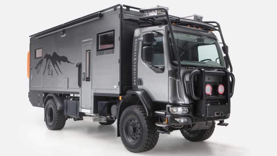 El GVX Patagonia parece un camión del Dakar, pero es una lujosa camper para viajar a parajes inhóspitos