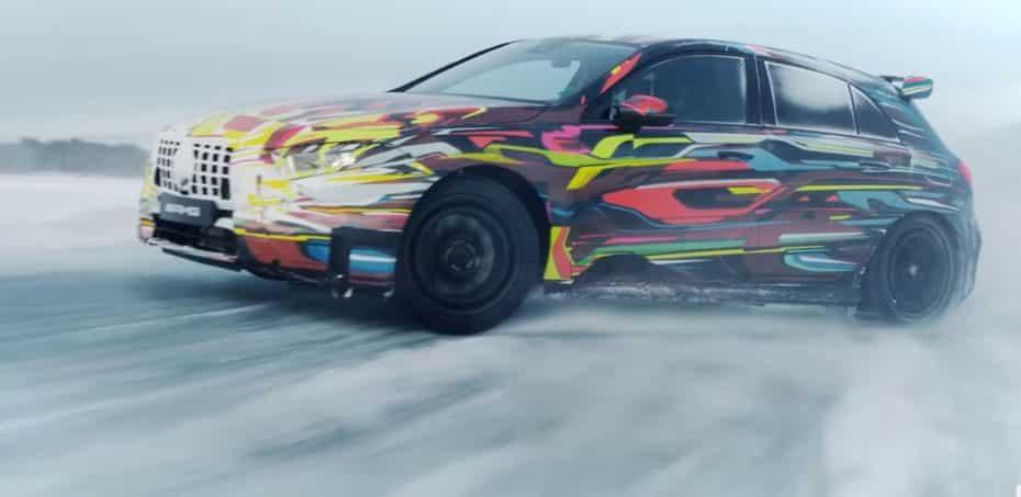 Hasta 416 CV y un modo drift para el Mercedes-AMG A 45 2019: Deléitate con el último vídeo-teaser
