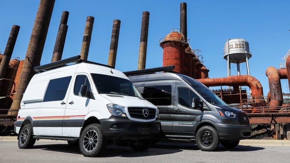 Las Mercedes-Benz SprinteryFord Transit 'Mode 4×4' se convierten en camper modulares gracias a Storyteller