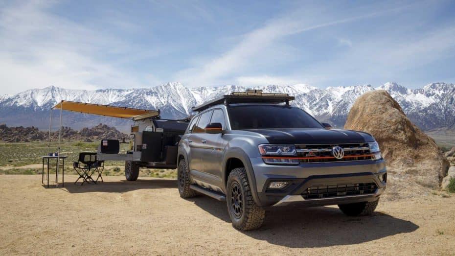 VolkswagenAtlas Basecamp Concept: Una bestia para aventurarse campo a través con la casa a cuestas