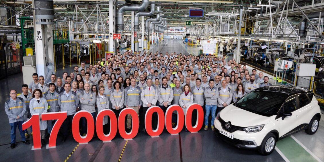 Renault Valladolid produce la unidad 17 millones