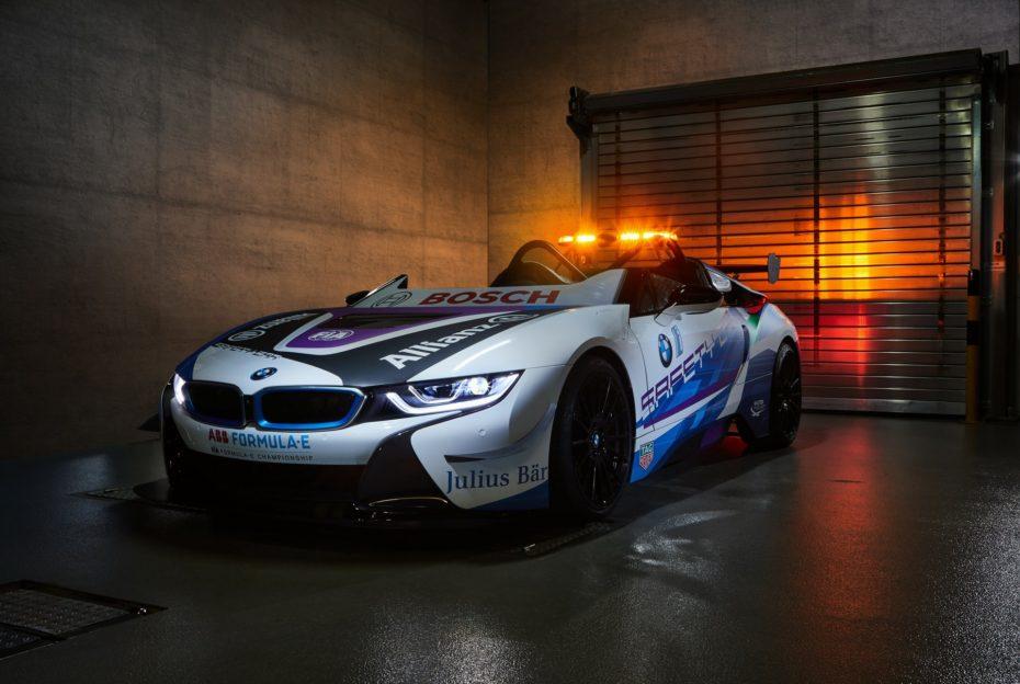 El nuevo 'Safety Car' de la Fórmula E es un BMW i8 Roadster que nunca podrás comprar