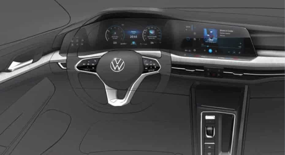 Así de tecnológico es el interior del nuevo Volkswagen Golf MK8 2020