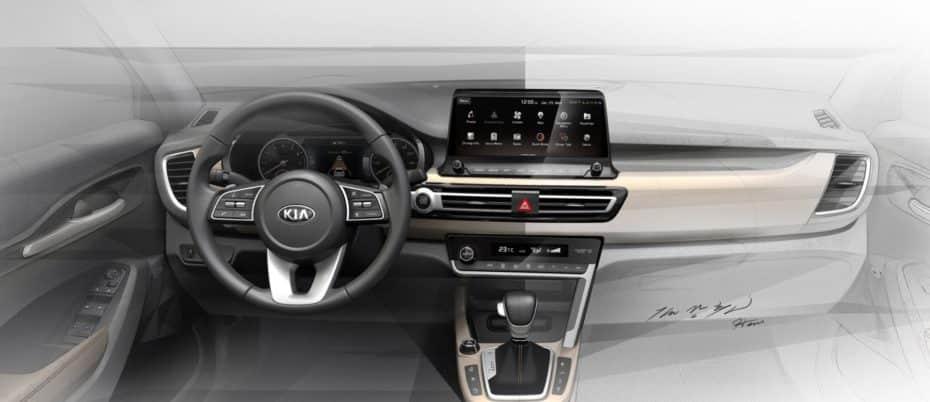 El nuevo crossover compacto de KIA revela su interior: Lo conoceremos en verano