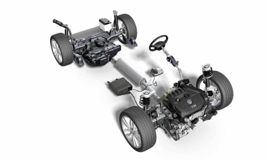 El sistema de 48V del Volkswagen Golf MK8 2020: Pegatina ECO para el 1.5 TSI EVO