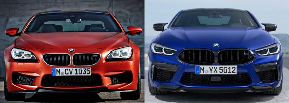 Comparación visual BMW M8 Competition vs. BMW M6 Competition Package: Así ha evolucionado la punta de lanza bávara