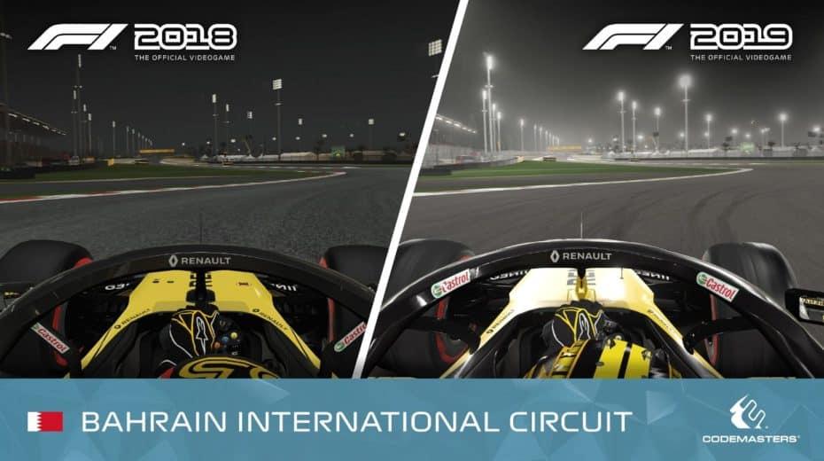 F1 2018 VS F1 2019: Así cambiarán los gráficos del videojuego